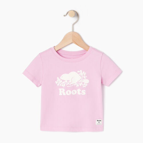 Roots-Kids Our Favourite New Arrivals-Baby Original Cooper Beaver T-shirt-Pastel Lavender-A