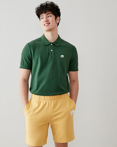 Roots-Men Clothing-Heritage Pique Polo-Camp Green-A