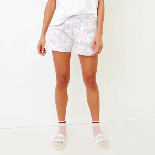 Roots-Women Shorts & Skirts-Floral Original Sweatshort-Washed Pink Camo-A