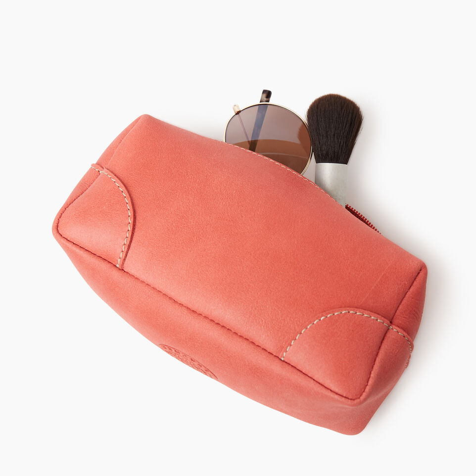 Roots-Leather Categories-Small Banff Pouch Tribe-Coral-C