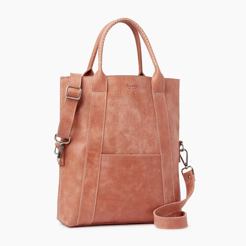 Roots-Leather  Handcrafted By Us Collections-Annex Tote-Canyon Rose-A