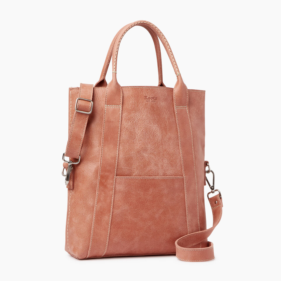 Roots-Leather Our Favourite New Arrivals-Annex Tote-Canyon Rose-A