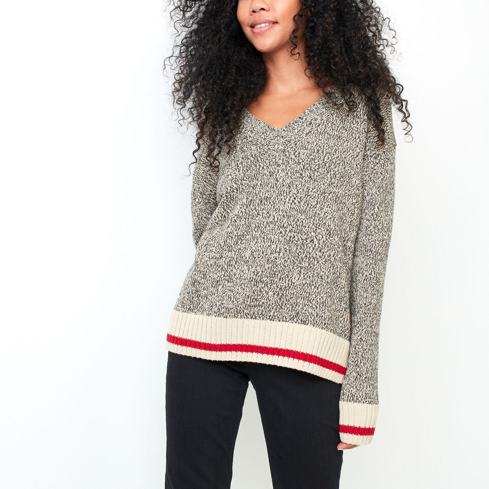 Roots-undefined-Roots Cotton Cabin V Neck Sweater-undefined-C