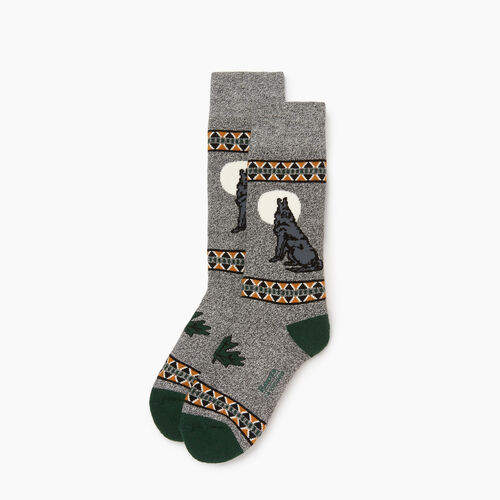 Roots-Kids Boys-Kids Canadiana Boot Sock-Park Green-A