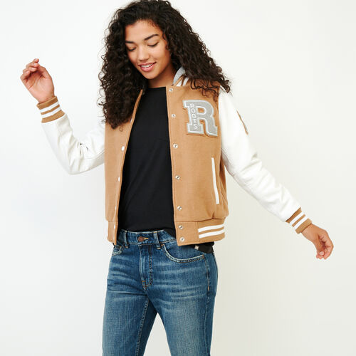 Roots-Women Award Jackets-Womens Hoody Award Jacket-Camel-A