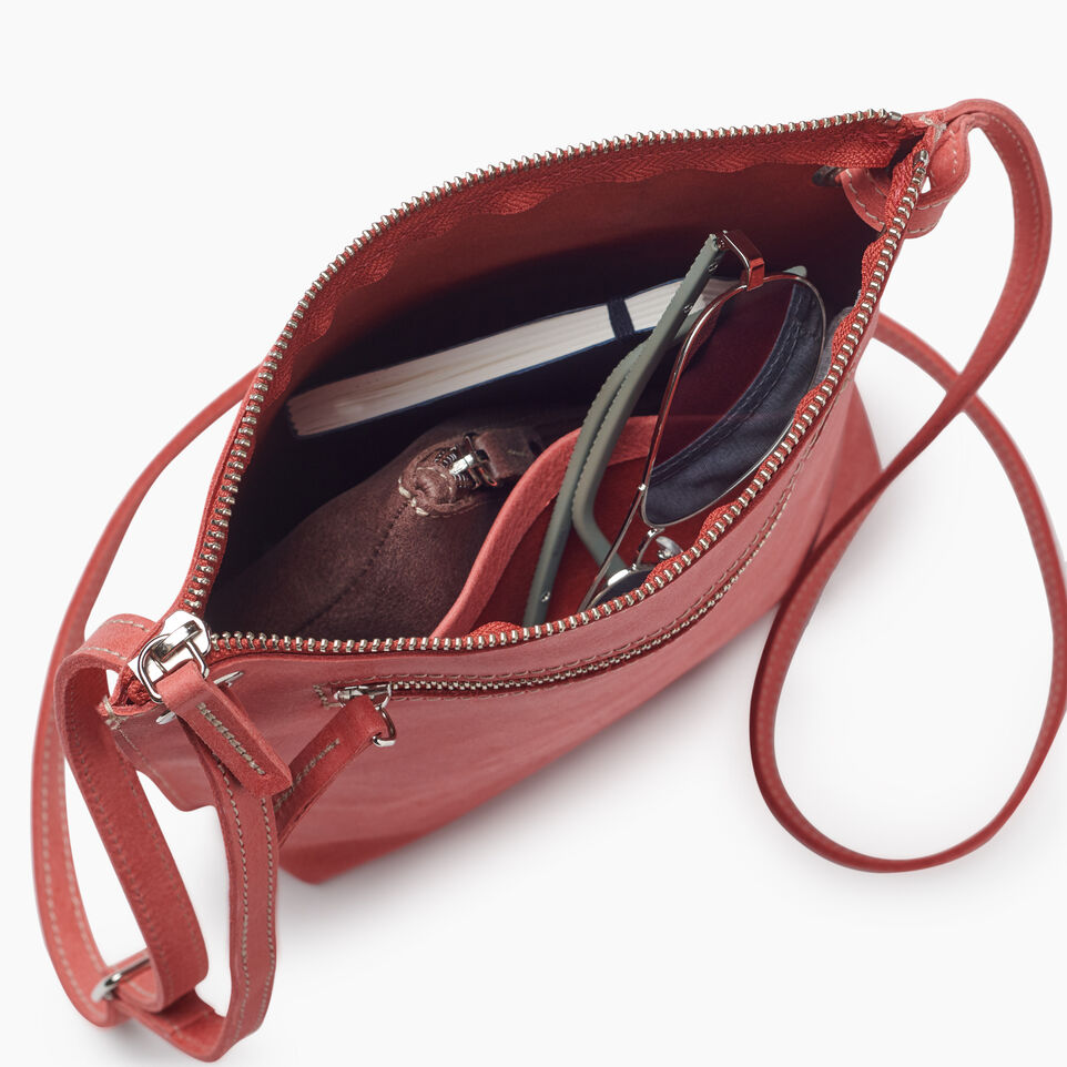 Roots-Leather New Arrivals-Festival Bag-Coral-D