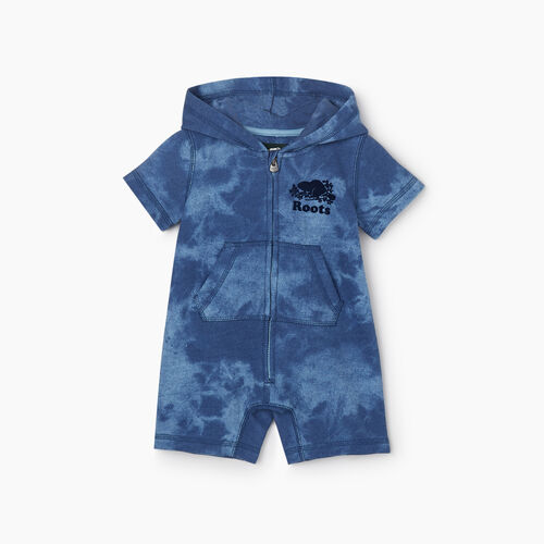 Roots-Kids New Arrivals-Baby Cooper Beaver Kanga Romper-Federal Blue-A
