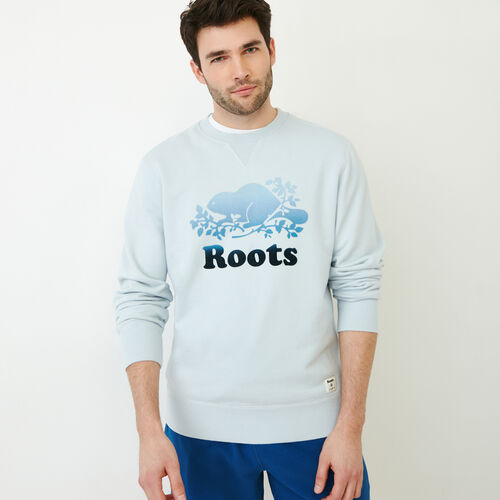 Roots-New For July Men-Cooper Chroma Crew Sweatshirt-Baby Blue-A