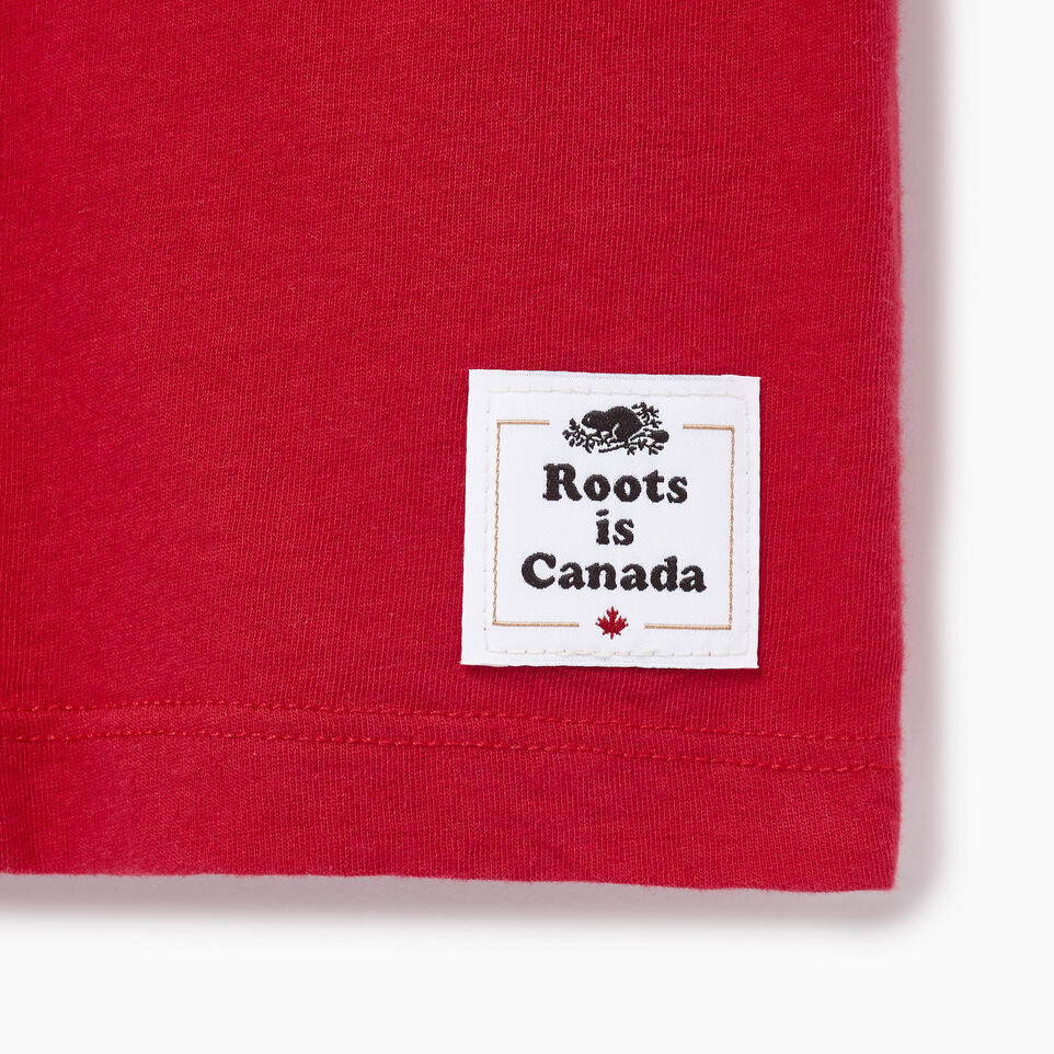 Roots-Women Our Favourite New Arrivals-Womens Blazon T-shirt-Sage Red-C