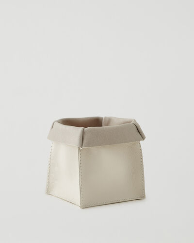 Roots-Leather Leather Accessories-Medium Rollover Basket Cervino-Ivory-A