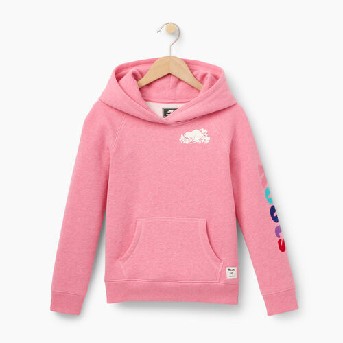 Roots-Winter Sale Kids-Girls Roots Remix Hoody-Pink Mix-A