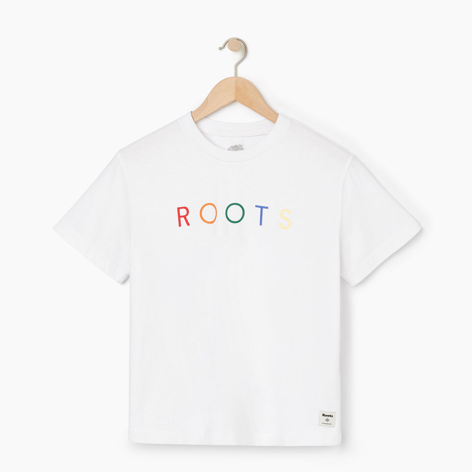 Roots-New For May Women-Womens Spectrum T-shirt-Crisp White-A
