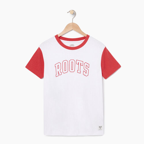 Roots-Clearance Tops-Womens Varsity Chic T-shirt-Crisp White-A