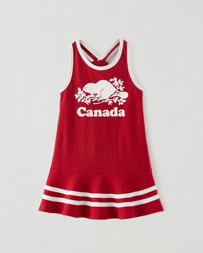 Roots-Kids Dresses-Baby Canada Tank Dress-Sage Red-A