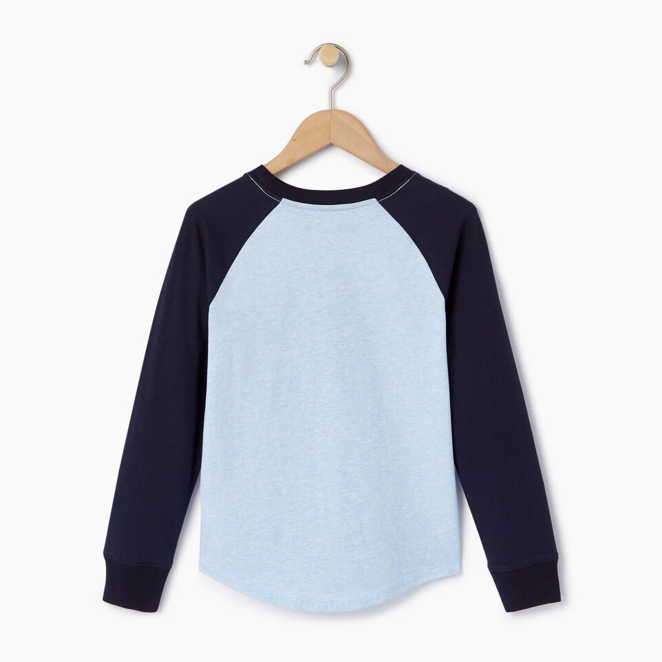 Roots-Kids Our Favourite New Arrivals-Boys Cooper Beaver Raglan T-shirt-Baby Blue Mix-B