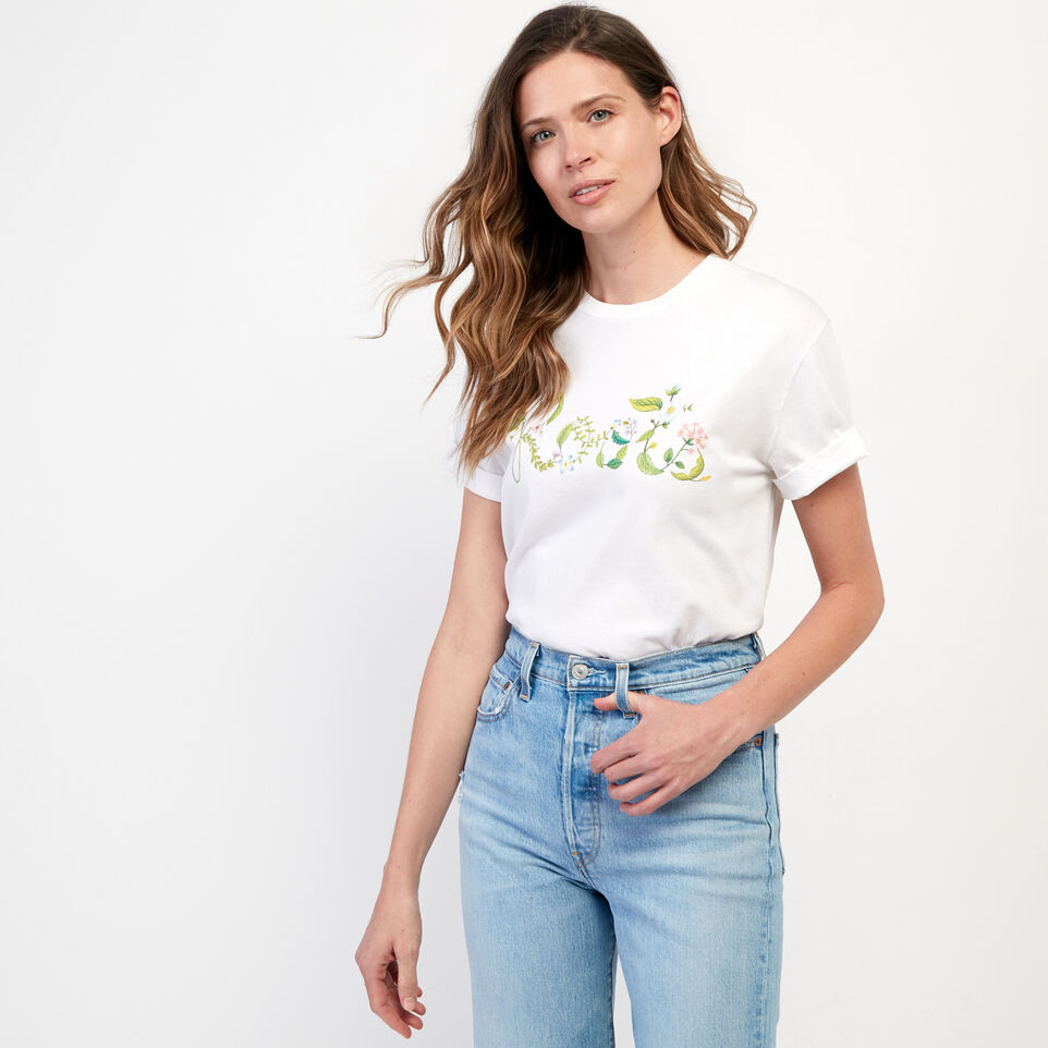 Roots-undefined-Womens Floral Garden Organic T-shirt-undefined-B