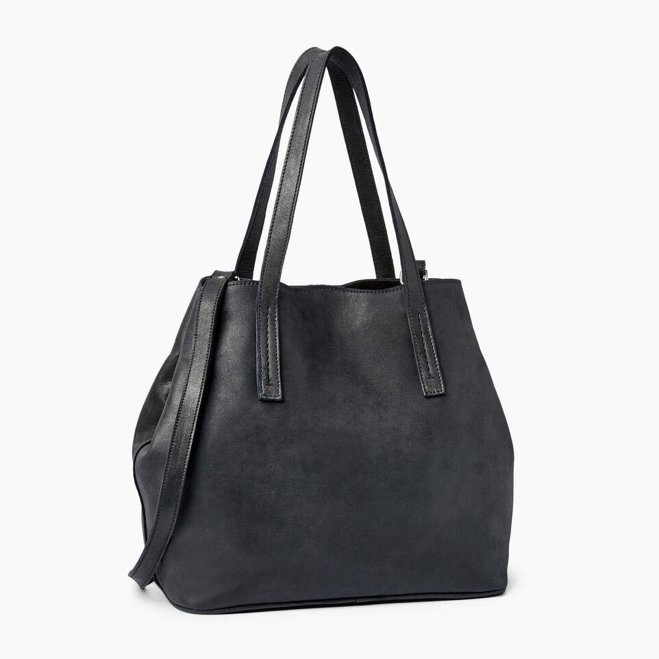 Roots-Leather Our Favourite New Arrivals-Amelia Tote Tribe-Jet Black-C