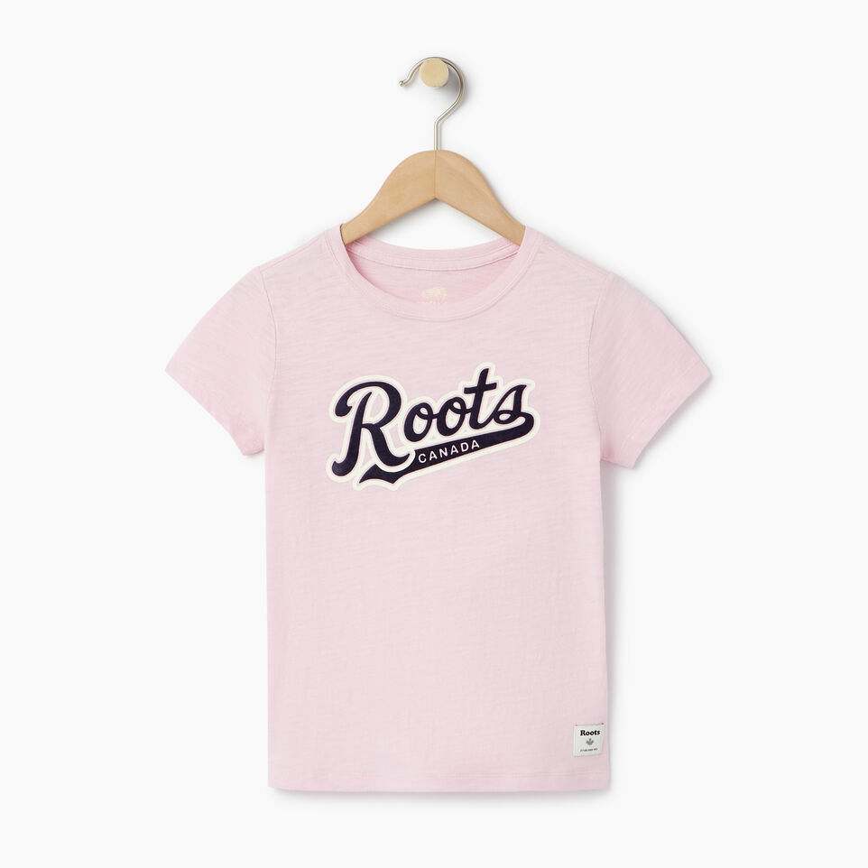 Roots-undefined-Girls Roots Script T-shirt-undefined-A