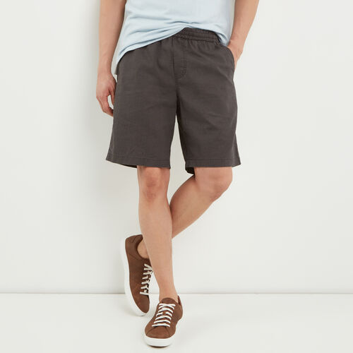 Roots-Men Shorts-Hemp Pull On Short-Phantom-A