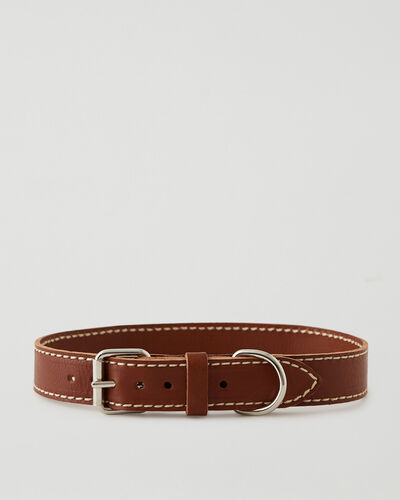 Roots-Leather Dog Accessories-Extra Large Dog Collar Veg-Mahogany-A
