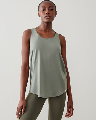 Roots-New For This Month Journey Collection-Journey Tank-Agave Green-A