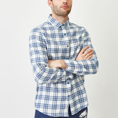 Roots-Clearance Tops-Harrison Flannel Shirt-Vintage White-A