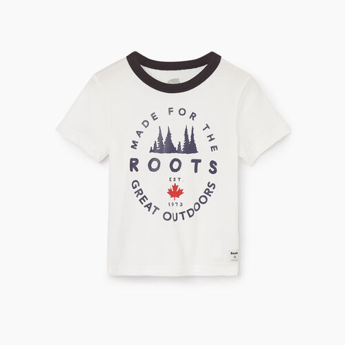 Roots-Kids Tops-Toddler Great Outdoors T-shirt-Ivory-A