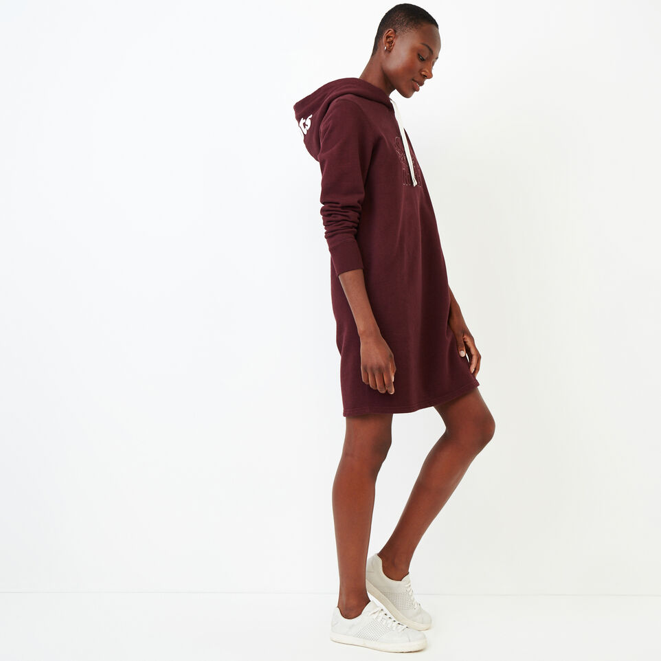 Roots-Women Our Favourite New Arrivals-Red Deer Dress-Crimson Mix-C