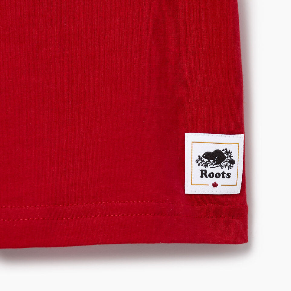 Roots-Kids Canada Collection-Toddler Canadian Boy T-shirt-Sage Red-C
