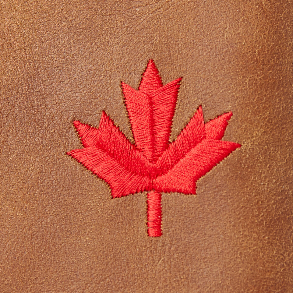 Roots-Leather  Handcrafted By Us Our Favourite New Arrivals-Maple Leaf Top Zip Pouch-Natural-C