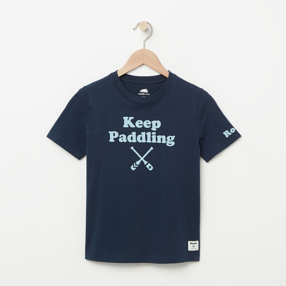 Roots-undefined-T-shirt Keep Paddling pour garçons-undefined-A
