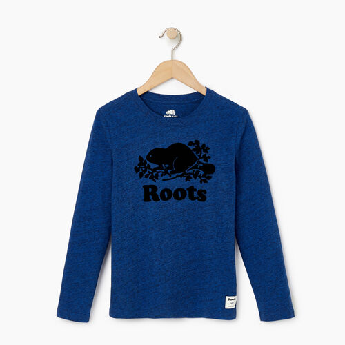Roots-Kids Our Favourite New Arrivals-Boys Original Cooper Beaver T-shirt-Active Blue Pepper-A