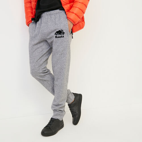 Roots-Men Slim Sweatpants-Park Slim Sweatpant - Tall-Salt & Pepper-A