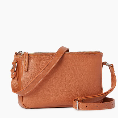 Roots-Clearance Leather-Main Street Crossbody-Caramel-A