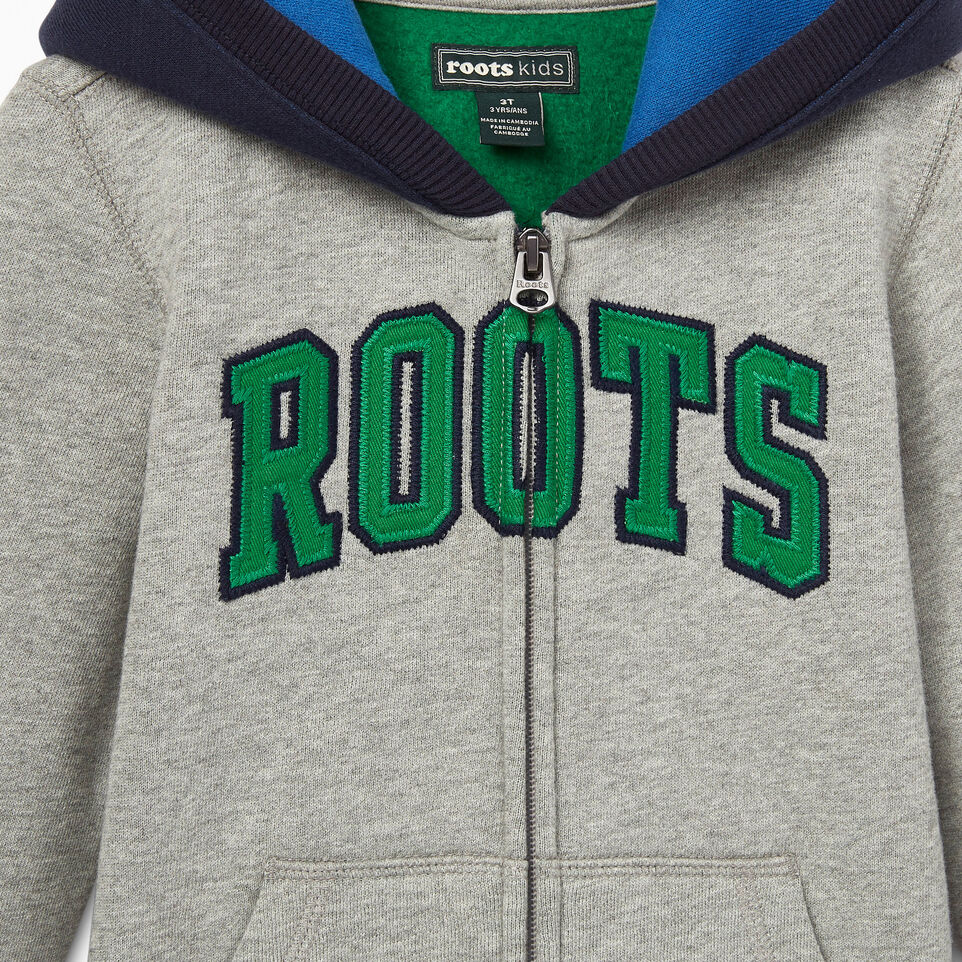 Roots-undefined-Toddler Plated Fleece Full Zip Hoody-undefined-D