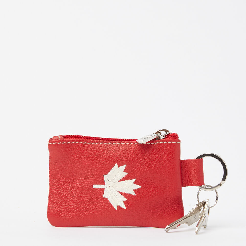 Roots-Maple Leaf Top Zip Pouch Prince