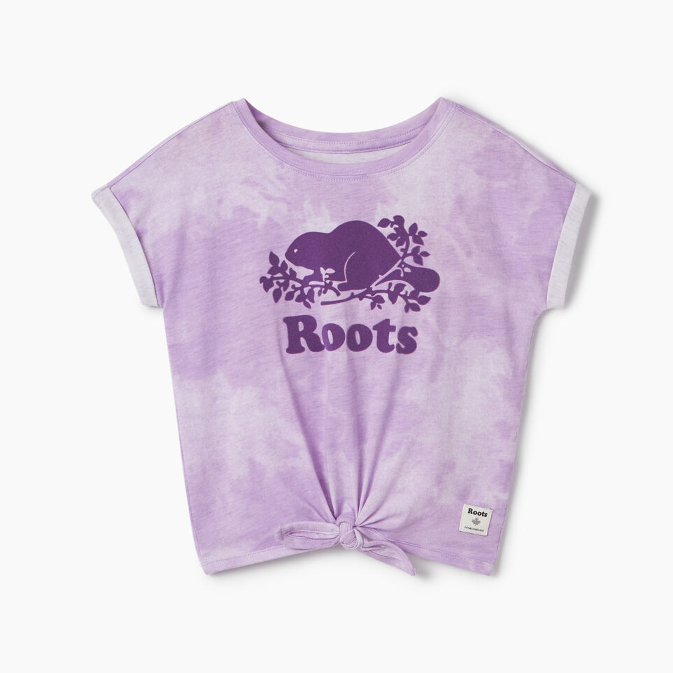 Roots-Kids T-shirts-Toddler Tie T-shirt-African Violet-A