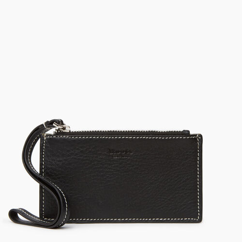Roots-Leather  Handcrafted By Us Categories-Medium Card Wristlet-Black-A