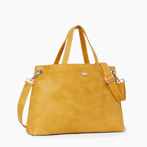 Roots-Women Bags-Edie Tote Tribe-Squash Yellow-A