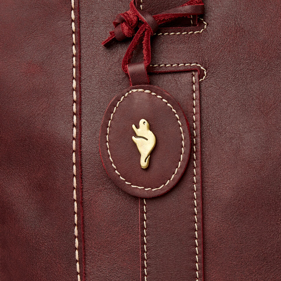 Roots-Leather  Handcrafted By Us Our Favourite New Arrivals-Victoria Tote-Crimson-F