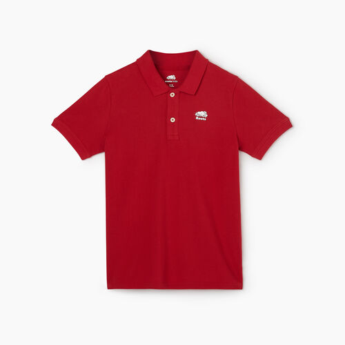 Roots-Kids New Arrivals-Boys Heritage Pique Polo-Sage Red-A