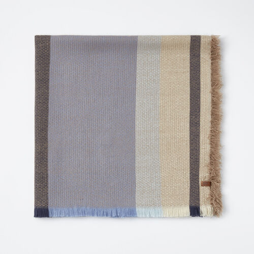 Roots-Women Scarves & Wraps-Kathleen Blanket Scarf-Cascade Blue-A