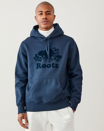 Roots-Men Sweatshirts & Hoodies-Tonal Cooper Beaver Hoody-Navy Blazer-A