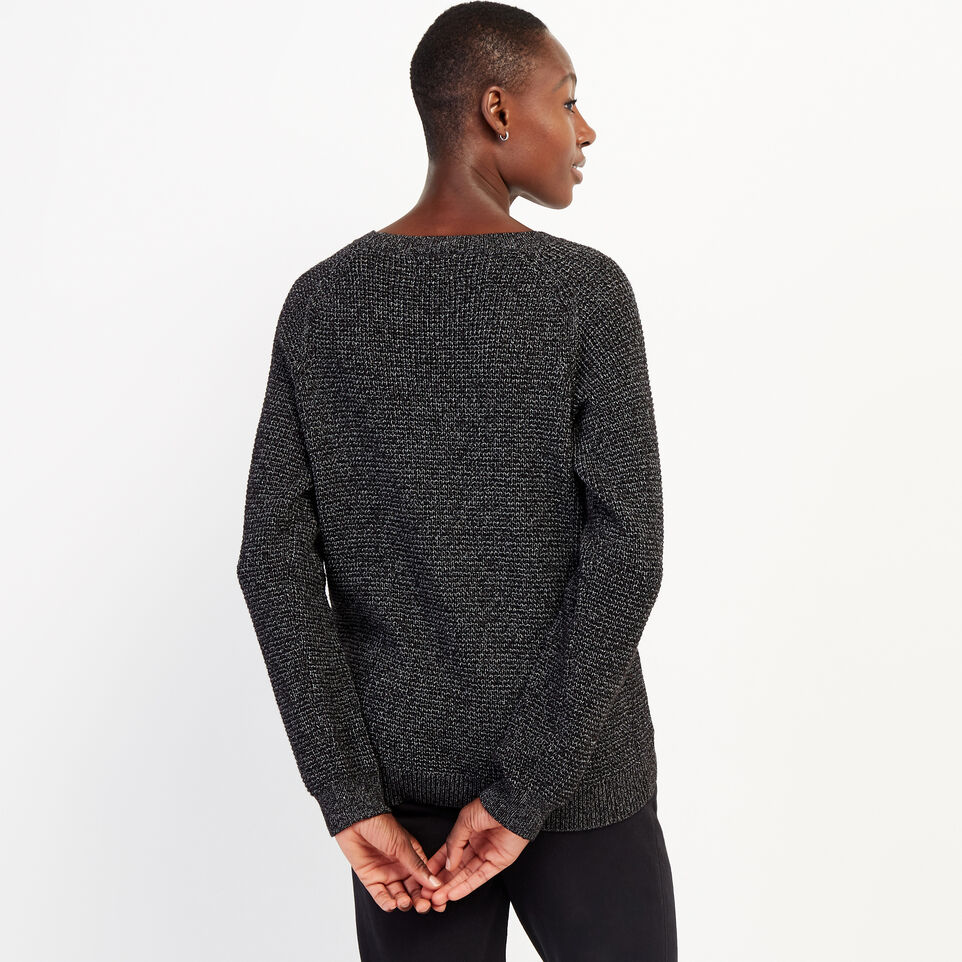 Roots-undefined-Snowy Fox Waffle Crew Sweater-undefined-D