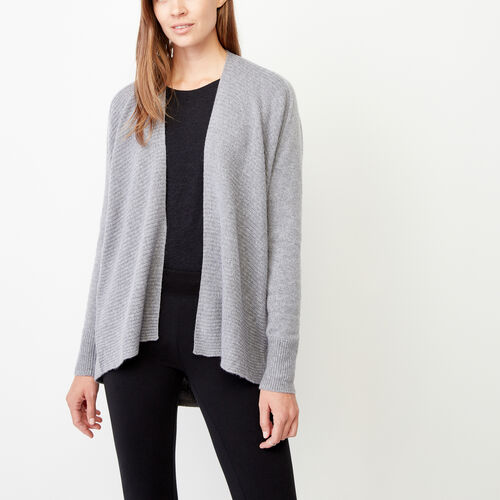 Roots-Winter Sale Women-Terence Open Cardigan-Grey Mix-A