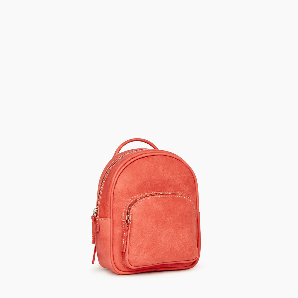 Roots-Leather New Arrivals-City Chelsea Pack-Coral-A