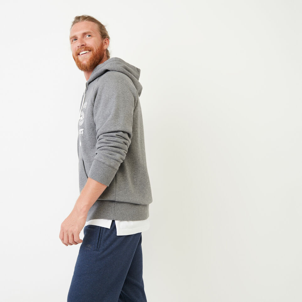 Roots-Men Our Favourite New Arrivals-Stamps Zip Hoody-Med Grey Mix-C