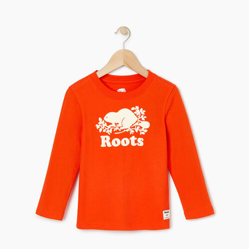 Roots-Kids Our Favourite New Arrivals-Toddler Original Cooper Beaver T-shirt-Spicy Orange-A