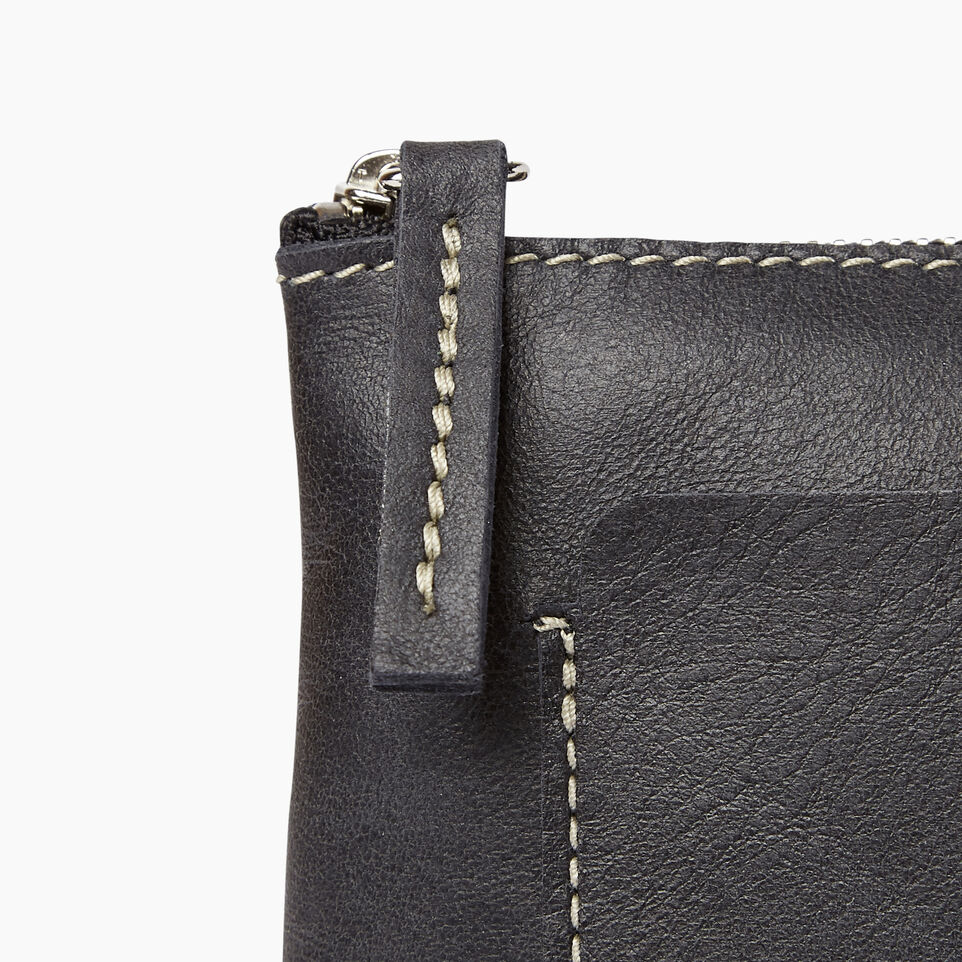 Roots-Leather  Handcrafted By Us Our Favourite New Arrivals-Carrier Pouch-Jet Black-C