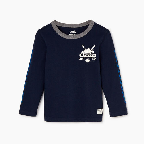Roots-Kids Toddler Boys-Toddler Hockey T-shirt-Navy Blazer-A